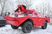 Obrnený transportér BRDM-2 ako