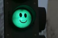Zelená na semafore