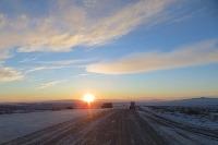 Slnko nízko nad obzorom