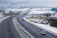 Zima na diaľnici D1