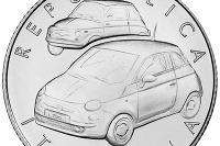 Fiat 500 sa dostal až na mincu