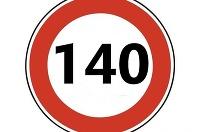 Maximálna rýchlosť 140 kmh