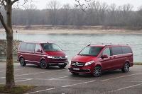 Dvojitý test: Mercedes V vs. Volkswagen Multivan 6.1