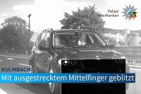 BMW X5, prekročená rýchlosť, prostredník, pokuta 75x