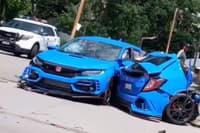 Novú Hondu Civic roztrhlo