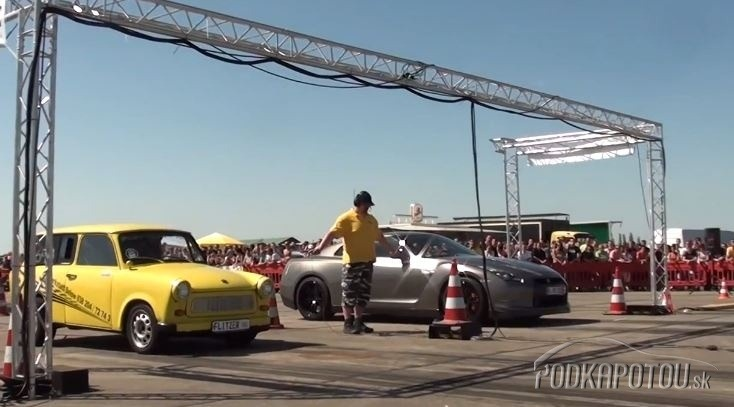 Trabant versus Nissan GT-R