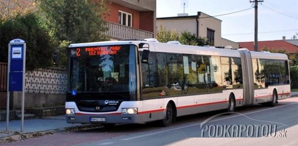 Kĺbový autobus v Nitre