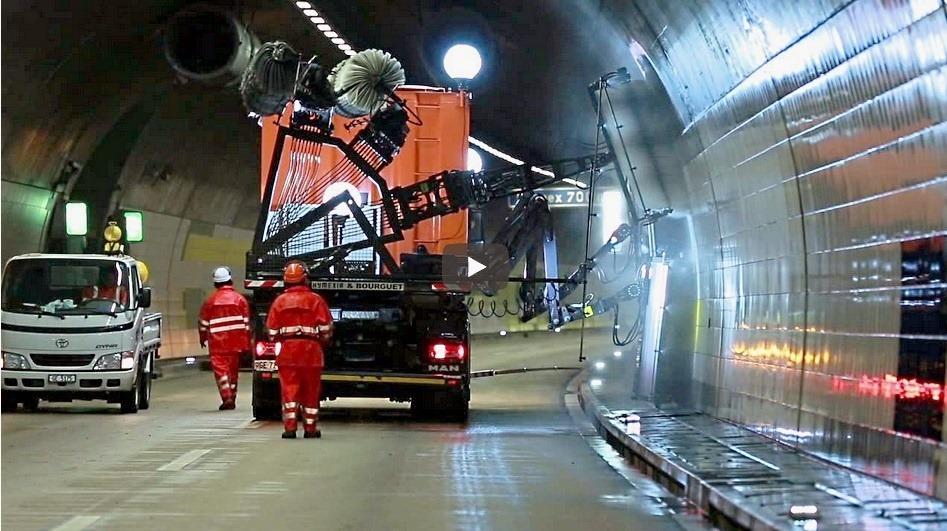 Umývanie tunelov Švajčiarsko