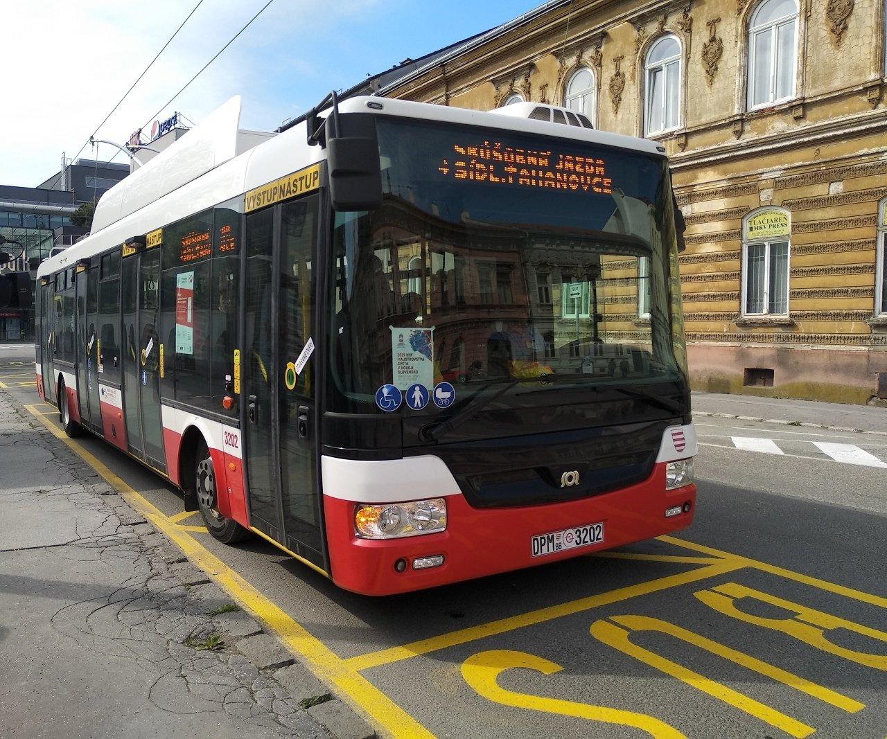 Parciálny trolejbus v Košiciach