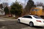 Toyota Camry a vlak