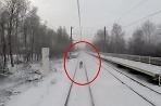 Lyžovanie za vlakom