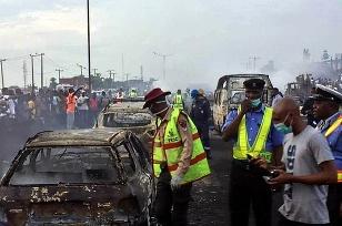 Oheň na diaľnici v
