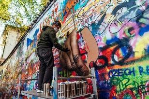 Škoda SCALA street art
