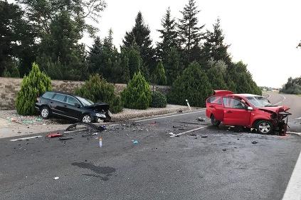 Nehoda čelná zrážka Senec