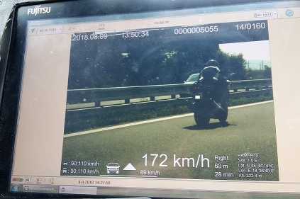 Rýchly motocyklista