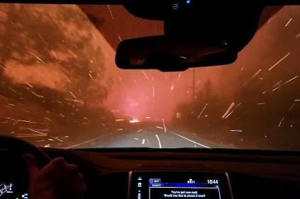 Oheň v Kalifornii