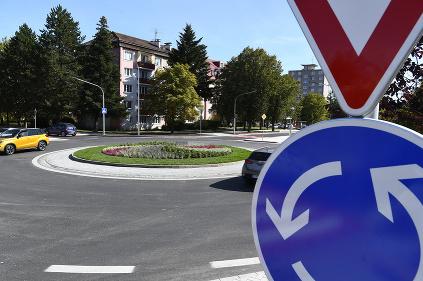 Kruhový objazd Poprad