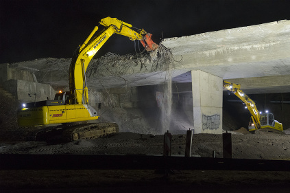 NDS búracie práce mosta