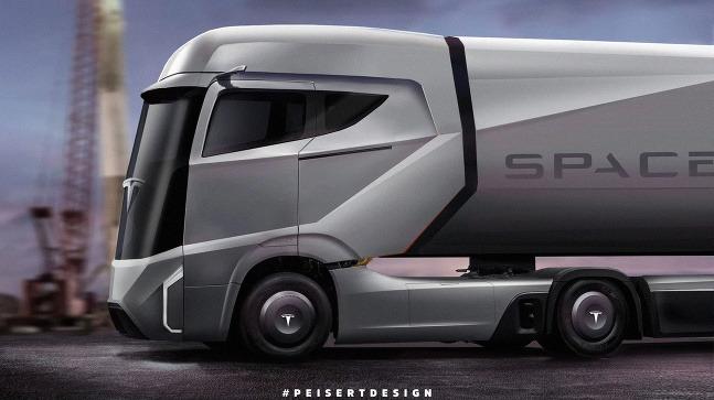 Tesla Semi vizualizácia od