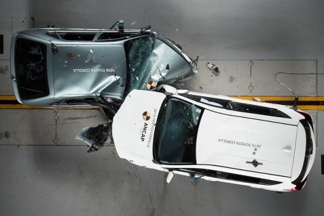 crash test Corolla