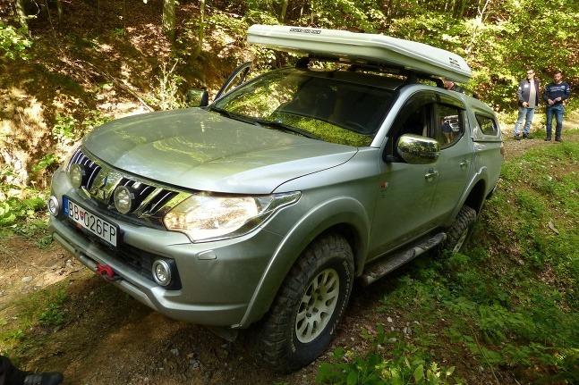Mitsubishi v Muránskej planine