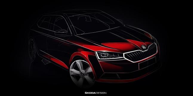 Škoda Fabia 2018 teaser