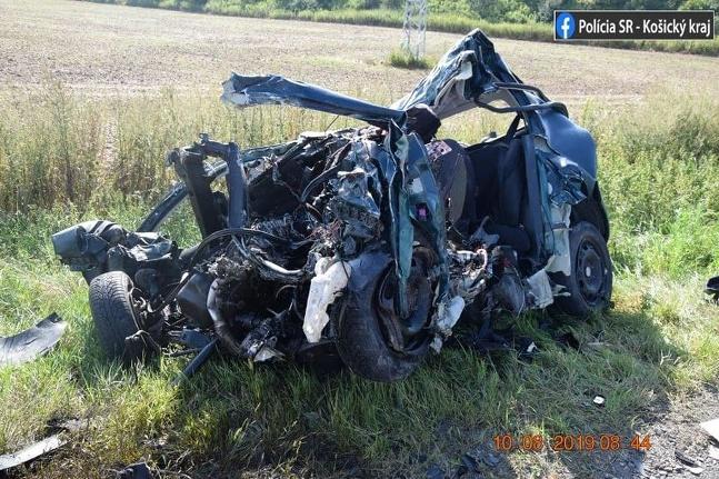 Nehoda Košice-Šebastovce Fabia a