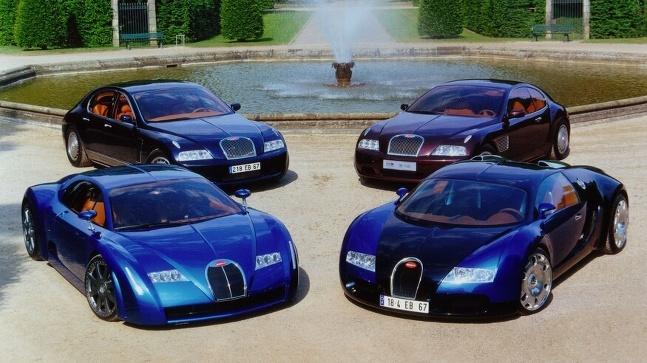 Koncepty Bugatti z 90-tych