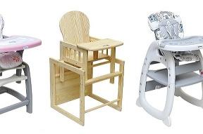 Tieto vysoké detské stoličky