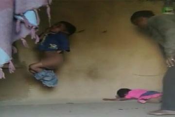 VIDEO: Brutálny otec zavesil