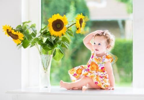 Detská pokožka sa slnku