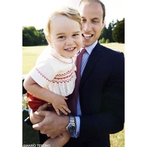 Princ George ukázal rozkošný
