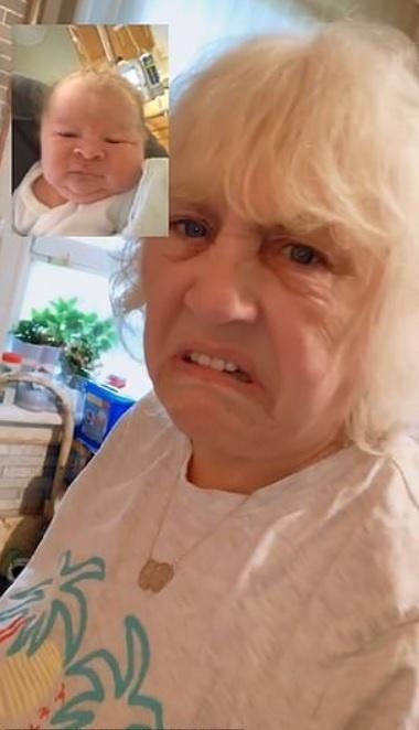 Reakcia babky po zhliadnutí