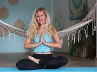 Inštruktorka jogy Tina Protič