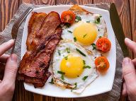 Vajíčka a slanina sú