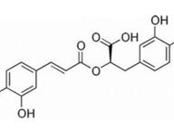 Chemická štruktúra kyseliny rozmarínovej.