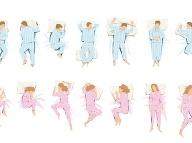 Typy spánkových polôh. Foto: