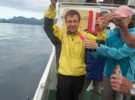 Viliam Štovčík počas rybolovu