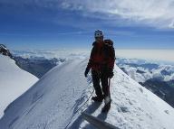 Vo švajčiarskych Alpách.