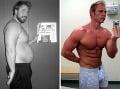Človek až pri tejto fotografii pochybuje, či ide o toho istého človeka. Cvičenie tohto muža zmenilo na nepoznanie! (Foto: )