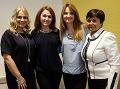 Zľava: herečka Zuzana Vačková, pacientka Vlasta Pagáčová, herečka Adriana Karnasová, pacietnka pani Fabianová. (zdroj: tlačová správa)