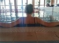 Ak sme sa chceli trošku rozhýbať, zaplávali sme si v 25 metrovom bazéne.