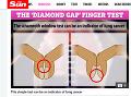 V prvom prípade, ak uvidíte medzeru medzi prstami, ide o dobré znamenie. Avšak, v prípade paličkových prstov sa medzera vytvára pro končekoch prstov, čo by mohol byť príznak ochorenia. (Foto: screenshot thesun.co.uk)