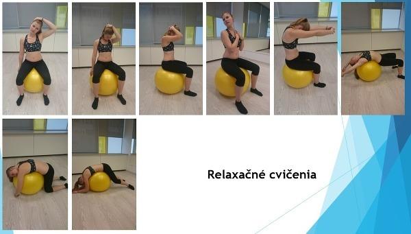 Relaxačné cvičenia na fitlopte.