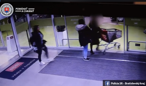 Krádež v bratislavskom nákupnom