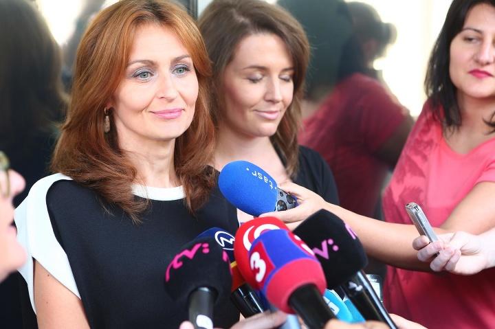 Andrea Kalavská po rokovaní
