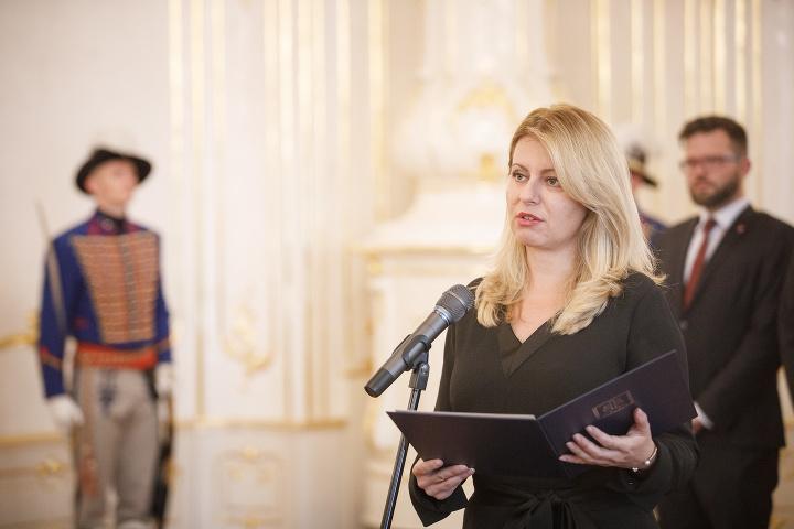 Prezidentka Zuzana Čaputová počas