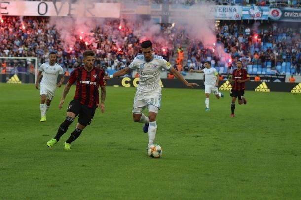 Pyrotechnika v derby zápase