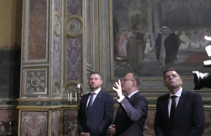 Pellegrini navštívil Pápežské slovenské